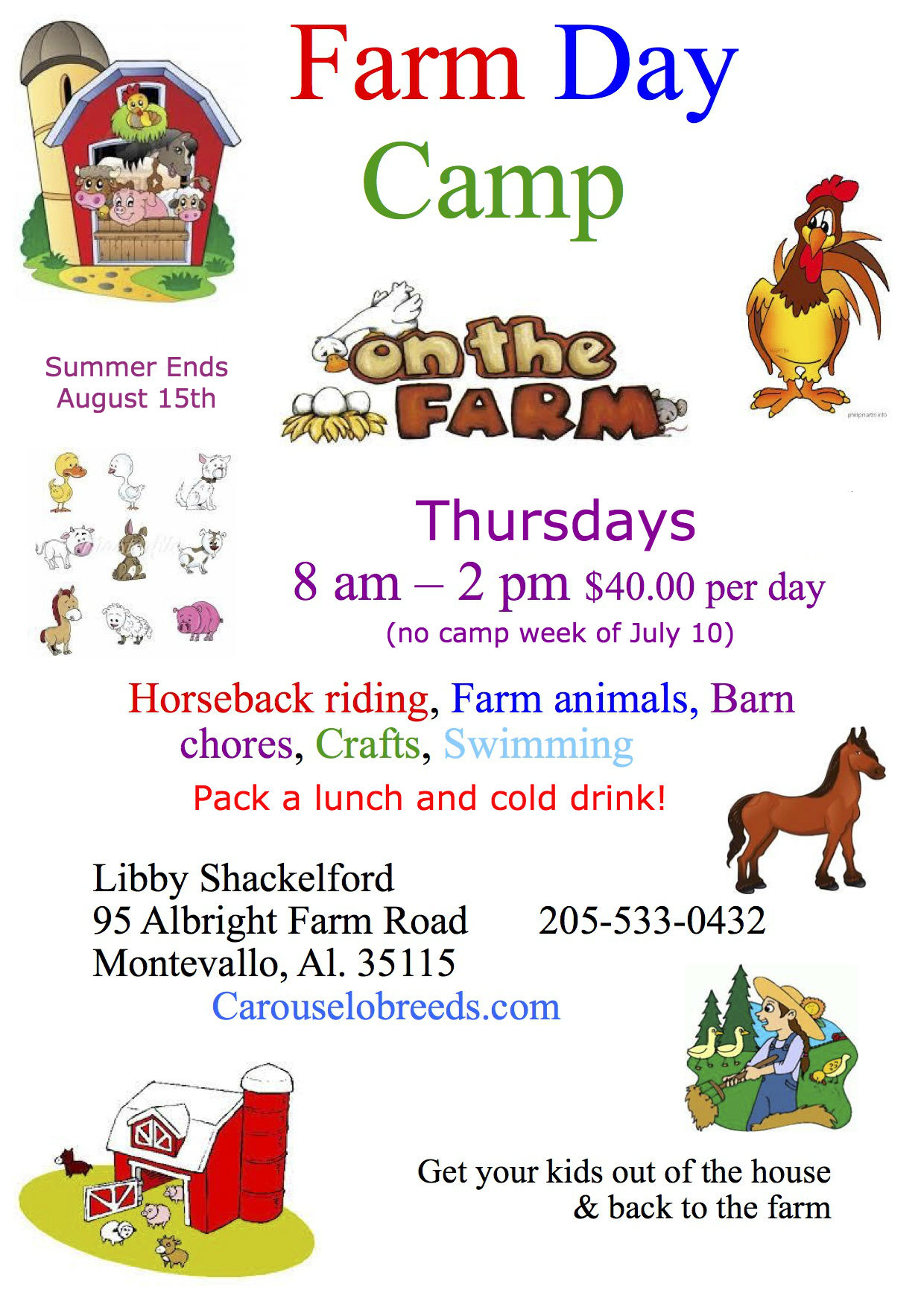 Carouselobreeds.com Farm Day Camp